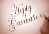 Callligraphy happy graduation — Stock Photo