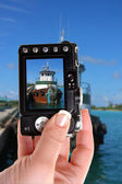 Tugboat in Nassau port snapshot — Stock Photo