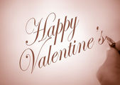 Callligraphy happy Valentine — Stock Photo