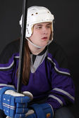 Teen male hockey player — Stock Photo