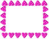Valentine heart frame or border — Stock Photo