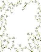 A floral frame — Stock Vector