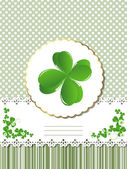 Decorative Saint Patrick card — Stock Vector