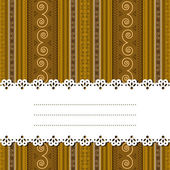 Sample text ribbon over african design — Stock Vector