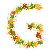Pattern floral letter G — Stock Vector