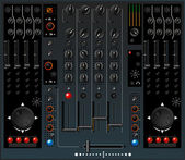 DJ mixer — Stock Vector