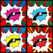 Pop art pistol - Stok Vektr