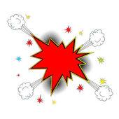 Explosie pictogram komische stijl — Stockvector