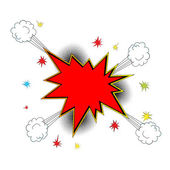 Explosion icon comic style — Vector de stock
