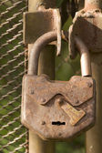 Tool old rusty lock — Stock Photo