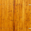 Stock Photo: Gate board wooden veneer