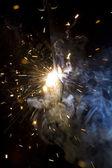 金属焊接火花 — 图库照片
