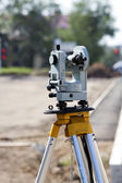 Geodetic theodolite instrument — Stock Photo
