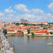 Vltava river and  Prague Castle — Foto Stock