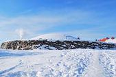 Helsinki. Church in the rock in winter — Stock Photo