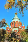 Helsinki. Assumption Cathedral in autumn — Stock Photo