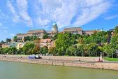Budapešť. královský palác — Stock fotografie