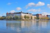 Helsinki. Kaisaniemi bay in autumn — Stock fotografie