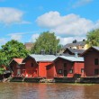 Stock Photo: Famous wooden houses in Porvoo