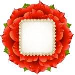 marco de círculo rojo rosa Vector — Vector de stock