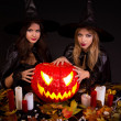Stock Photo: Halloween witches