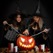 Halloween witches — Stock Photo #7178797