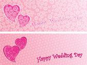 Wedding greeting card — Stock Vector