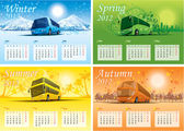 Four season calendar 2012 — Stock Vector
