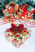 Christmas and New Year presents — Stock Photo