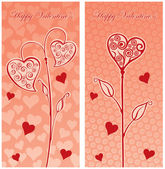 Liebe postkarte — Stockvektor