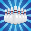 Bowling pins — Stock Vector