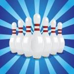 Bowling pins — Stock Vector