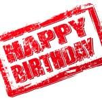 Happy birthday stamp — Stock Vector #7176398