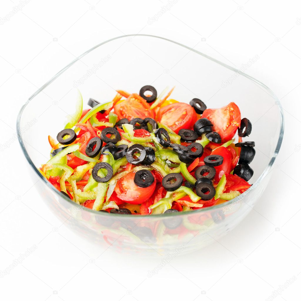 Fresh vegetable salad in a bowl — Stock Photo #7356784
