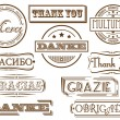 Thank you stamps — Stock Vector #7644620