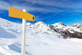 Mountain guidepost — Stock Photo