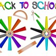 Pencils school banner — Stock Vector