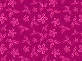 Dessin fleurs rose — Vecteur