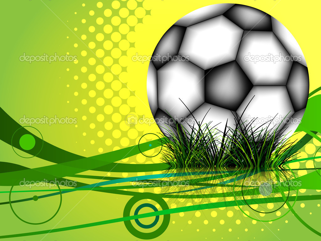 Soccer ball background, abstract vector art illustration; image contains transparency and gradient mesh — Stock Vector #6800816