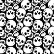 Skulls pattern — Vector de stock