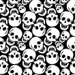 Stock Vector: Skulls pattern