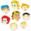 Children faces — Stock Vector