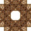 Stock Vector: Brown pattern