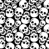Skulls pattern — Stock Vector