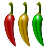 Realistic pepers cartoon — Stock Vector