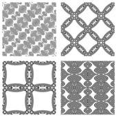 Op art monochromatic patterns — Stock Vector