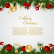 Detailed realistic christmas frame — Vector de stock