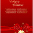 Stock Vector: Elegant xmas red background