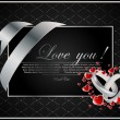 Vector de stock : Vector background with the hearts