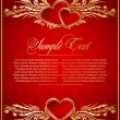 Vintage background with hearts — 图库矢量图片